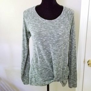 Juicy Couture Gray Tunic Twist Front Top Size L